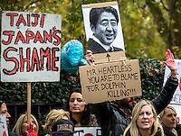 07.11.2014 - Anti-Taiji Protest at Japanese Embassy in London