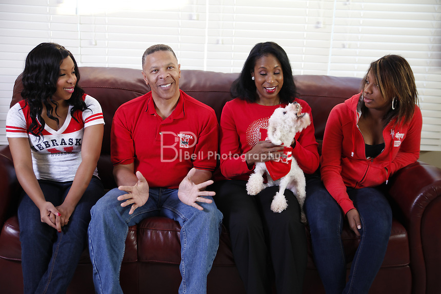 John and his family at home