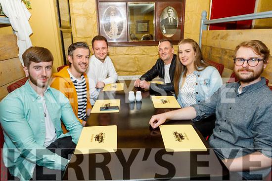 Jeffery Stack, Patrick Tagney, Sean McDermott, Steve Buckley, Sarah Curtin and Terry O'Hanley enjoying the evening in the Brogue Inn on Friday.