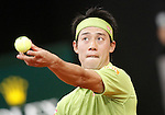 Kei Nishikori, Japan, during Madrid Open Tennis 2016 match.May, 6, 2016.(ALTERPHOTOS/Acero)