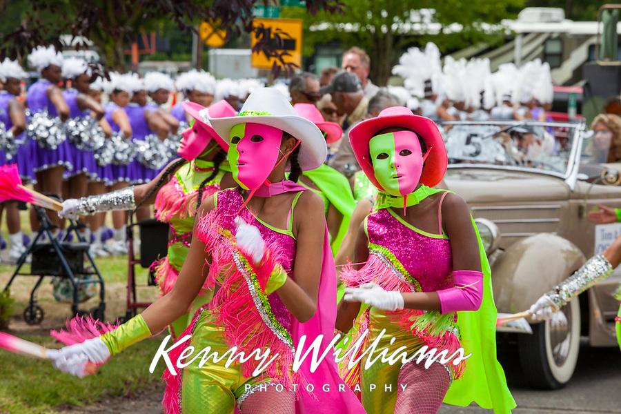 Girls Drill Team Dancing, Kent Cornucopia Days, Kent, WA, USA.