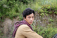 A Tibetan man near the town of Heishui on the south-east edge of the Tibetan Plateau in Sichuan Province, western China.
