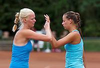 August 13, 2014, Netherlands, Raalte, TV Ramele, Tennis, National Championships, NRTK,  Ladies doubles: Charlotta van der Meij and Erika Vogelsang<br /> Photo: Tennisimages/Henk Koster