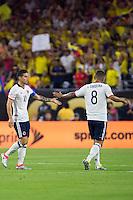 Action photo during the match Colombia vs Costa Rica, Corresponding to  Group -A- of the America Cup Centenary 2016 at NRG Stadium.<br /> <br /> Foto de accion durante el partido Colombia vs Costa Rica, Correspondiente al Grupo -A- de la Copa America Centenario 2016 en el Estadio NRG , en la foto: James Rodriguez y Edwin Cardona de Colombia<br /> <br /> <br /> 11/06/2016/MEXSPORT/Jorge Martinez.