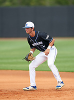 IMG Academy Ascenders Black first baseman Luke Ross (3) during the IMG National Classic on March 29, 2021 at IMG Academy in Bradenton, Florida.  (Mike Janes/Four Seam Images)