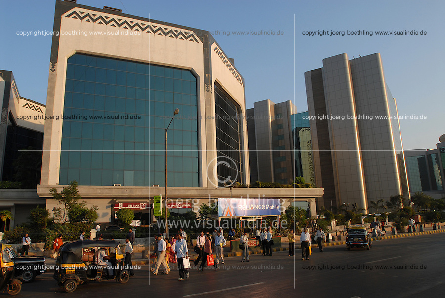 INDIA, Mumbai, business and finance complex Bandra-Kurla / INDIEN, Mumbai, Finanz und Business Komplex Bandra-Kurla