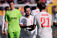 Miralem Pjanic of Juventus , Gonzalo Higuain of Juventus <br /> Lecce 26-10-2019 Stadio Via del Mare <br /> Football Serie A 2019/2020 <br /> US Lecce - Juventus FC <br /> Photo Federico Tardito / Insidefoto