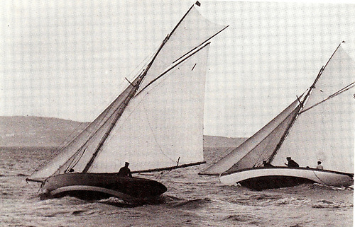 A new One-Design Class from the early days – the Dublin Bay 25s racing in 1901. Photo courtesy DBSC