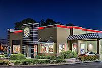 Burger King restaurant exterior at night, Virginia Beach, USA