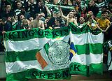 06.03.2013  Juventus v Celtic, UEFA Champions League round of the last 16 second leg  ...................    CELTIC FANS GREENOCK FLAG