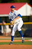 Tyler Sample #60 of the Burlington Royals in action versus the Elizabethton Twins at Burlington Athletic Park July 19, 2009 in Burlington, North Carolina. (Photo by Brian Westerholt / Four Seam Images)