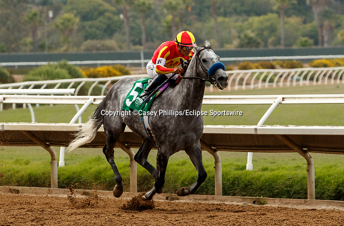 VieDEL MAR, CA  JULY 31: #5 Dark Prince ridden Abel Cedillo easily wins his race on July 31, 2021 at Del Mar Thoroughbred Club in Del Mar, CA. (Photo by Casey Phillips/Eclipse lSportswire/CSM)
