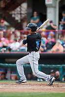 Akron RubberDucks second baseman Tyler Krieger (15) during a game against the Erie SeaWolves on August 27, 2017 at UPMC Park in Erie, Pennsylvania.  Akron defeated Erie 6-4.  (Mike Janes/Four Seam Images)