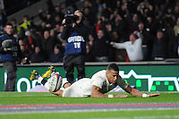 Anthony Watson, FEBRUARY 27, 2016 - Rugby : Anthony Watson of England scores a try during the RBS 6 Nations match between England and Ireland at Twickenham Stadium, London, United Kingdom. (Photo by Rob Munro)