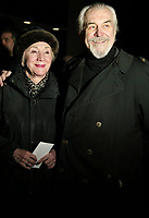 NEW YORK, NY- MARCH 1: Olympia Dukakis and Louis Zorich  arrive for the opening of Howard Katz, held at the Laura Pels Theatre, on March 1, 2007, in New York City. Credit: Joseph Marzullo/MediaPunch
