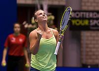 December 21, 2014, Rotterdam, Topsport Centrum, Lotto NK Tennis, Richel Hogenkamp (NED) jubilates her win<br /> Photo: Tennisimages/Henk Koster