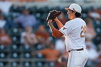 Texas Longhorns  pitcher Austin Dicharry #28 during the NCAA baseball game against the Central Arkansas Bears on April 24, 2012 at the UFCU Disch-Falk Field in Austin, Texas. The Longhorns beat the Bears 4-2. (Andrew Woolley / Four Seam Images).