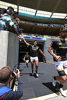 Julian Savea runs out during the Mitre 10 Cup rugby match between Wellington Lions and Manawatu Turbos at Sky Stadium in Wellington, New Zealand on Saturday, 14 November 2020. Photo: Dave Lintott / lintottphoto.co.nz