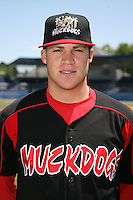 June 16, 2009:  Eric Fornataro of the Batavia Muckdogs poses for a head shot before the teams practice at Dwyer Stadium in Batavia, NY.  The Batavia Muckdogs are the NY-Penn League Single-A affiliate of the St. Louis Cardinals.  Photo by:  Mike Janes/Four Seam Images