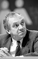 Montreal (QC) Canada- 1987 File Photo - - New Democratic Party (NDP) Convention  - - Ed Broadbent<br /> <br /> PHOTO :  Agence Quebec Presse