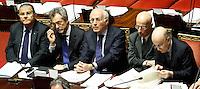ADELFIO ELIO CARDINALE, CARLO MALINCONICO, MASSIMO VARI, ANTONIO MALASCHINI, E GIOVANNI FERRARA.Roma 22/12/2011 Senato. Voto di Fiducia sulla Manovra Economica.Votation at Senate about austerity plan. .Photo Samantha Zucchi Insidefoto