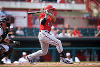 Harrisburg Senators second baseman Reegie Corona (6) at bat during a game against the Erie Seawolves on August 30, 2015 at Jerry Uht Park in Erie, Pennsylvania.  Harrisburg defeated Erie 4-3.  (Mike Janes/Four Seam Images)