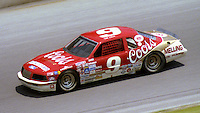 Bill Elliott 9 action Pepsi Firecracker 400 at Daytona International Speedway in Daytona Beach, FL on July 4, 1985. (Photo by Brian Cleary/www.bcpix.com)