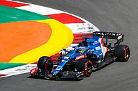 30th April 2021; Algarve International Circuit, in Portimao, Portugal; F1 Grand Prix of Portugal, Free practise:  14 ALONSO Fernando (spa), Alpine F1 A521