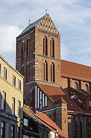 St.Nikolai 14.Jh. in Wismar, Mecklenburg-Vorpommern, Deutschland, UNESCO-Weltkulturerbe