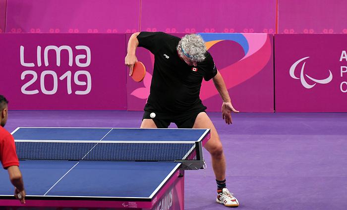 Ian Kent, Lima 2019 - Para Table Tennis // Para tennis de table.<br /> Ian Kent competes in Para Table Tennis // Ian Kent participe en Para tennis de table. 22/08/2019.