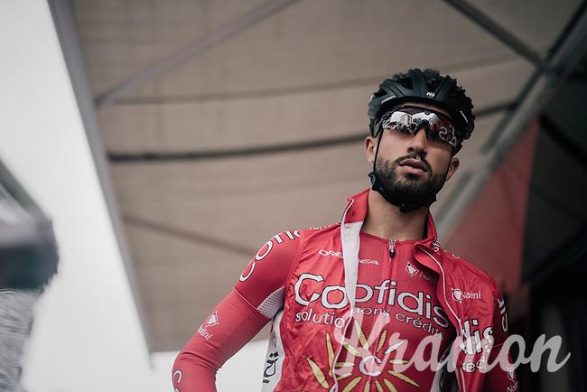Nacer Bouhanni (FRA/Cofidis) before the start<br /> <br /> 104th Tour de France 2017<br /> Stage 12 - Pau › Peyragudes (214km)