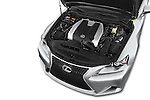 Car stock 2015 Lexus IS 350 4 Door Sedan engine high angle detail view