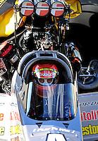 May 29, 2009; Topeka, KS, USA: NHRA top fuel dragster driver Cory McClenathan during qualifying for the Summer Nationals at Heartland Park Topeka. Mandatory Credit: Mark J. Rebilas-