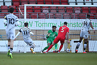 Nicky Cadden (11) of Forest Green Rovers scores the first goal for his team and celebrates with his team mates during Leyton Orient vs Forest Green Rovers, Sky Bet EFL League 2 Football at The Breyer Group Stadium on 23rd January 2021