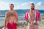 Enjoying a swim in Banna on Thursday, l to r: Ryan O'Connor and Thomas Collins.