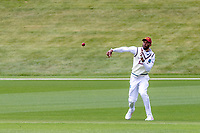 20th November 2020; John Davies Oval, Queenstown, Otago, South Island of New Zealand. West Indies Roston Chase returns to wicket