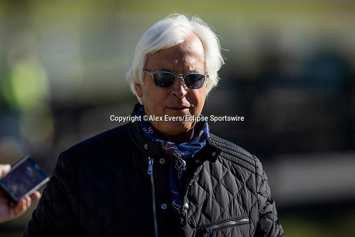 November 4, 2020: Trainer Bob Baffert at Keeneland Racetrack in Lexington, Kentucky on November 4, 2020. Alex Evers/Eclipse Sportswire/Breeders Cup