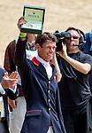 APRIL 27, 2014: William Fox-Pitt (GBR), after winning the Rolex Kentucky 3-Day Event riding BAY MY HERO at the Kentucky Horse Park in Lexington, KY. Jon Durr/ESW/CSM