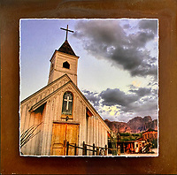 Desert Chapel - Mixed Media - Arizona<br />