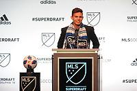 Philadelphia, PA - Thursday January 19, 2018: Danny Musovski during the 2018 MLS SuperDraft at the Pennsylvania Convention Center.