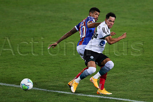 16th November 2020; Couto Pereira Stadium, Curitiba, Brazil; Brazilian Serie A, Coritiba versus Bahia; Giovanne Augusto of Coritiba and Juninho of Bahia