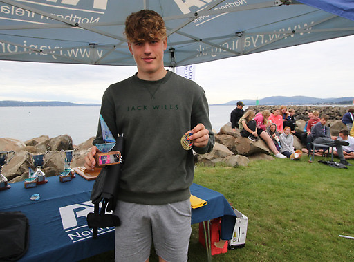 Tom Coulter of East Antrim BC, winner of the ILCA 6 prize