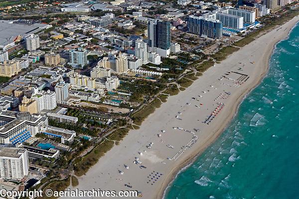 aerial photograph of South Beach, Miami, Florida