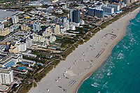 aerial photograph of South Beach, Miami, Florida