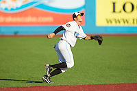 Hudson Valley Renegades second baseman Coty Blanchard (7) on defense against the Brooklyn Cyclones at Dutchess Stadium on June 18, 2014 in Wappingers Falls, New York.  The Cyclones defeated the Renegades 4-3 in 10 innings.  (Brian Westerholt/Four Seam Images)