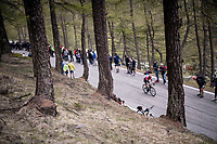 Eddie Dunbar (IRE/INEOS) up the Colle San Carlo (Cat1/1921m/10.1km/9.8%)<br /> <br /> Stage 14: Saint Vincent to Courmayeur/Skyway Monte Bianco (131km)<br /> 102nd Giro d'Italia 2019<br /> <br /> ©kramon