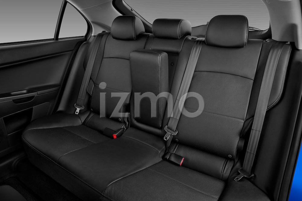 Rear seats in a 2012 Mitsubishi Lancer Sportback GT