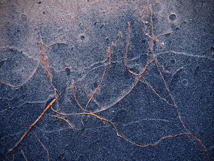 Abstract pattern in the sand along the Colorado River in the Grand Canyon, Grand Canyon National Park, Arizona, USA