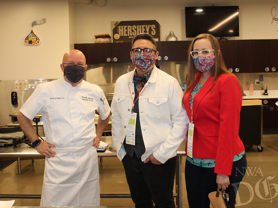 Marshall Shafkowitz (from left) and David and Angie Gomez<br /> Amazeum UnGala<br /> (NWA Democrat-Gazette/Carin Schoppmeyer)