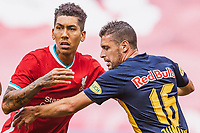 25th August 2020, Red Bull Arena, Slazburg, Austria; Pre-season football friendly, Red Bull Salzburg versus Liverpool FC;  Roberto Firmino FC Liverpool, Zlatko Junuzovic FC Red Bull Salzburg
